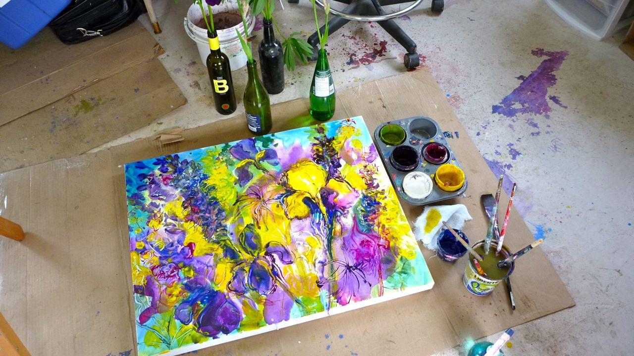 Acrylic Painting Tutorial Green Willow Studio